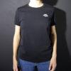 t-shirt noir au baiser blanc