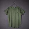 t-shirt vert aux baisers noires